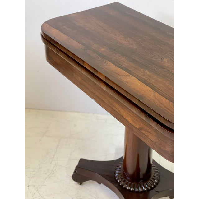 Wood 19th Century English Regency Rosewood Games Table For Sale - Image 7 of 13