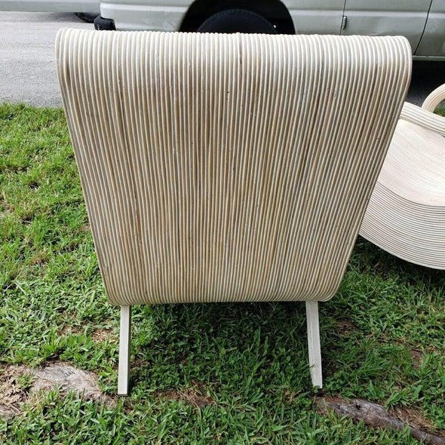 Modern Pencil Reed Lounge Chairs - a Pair For Sale - Image 4 of 5