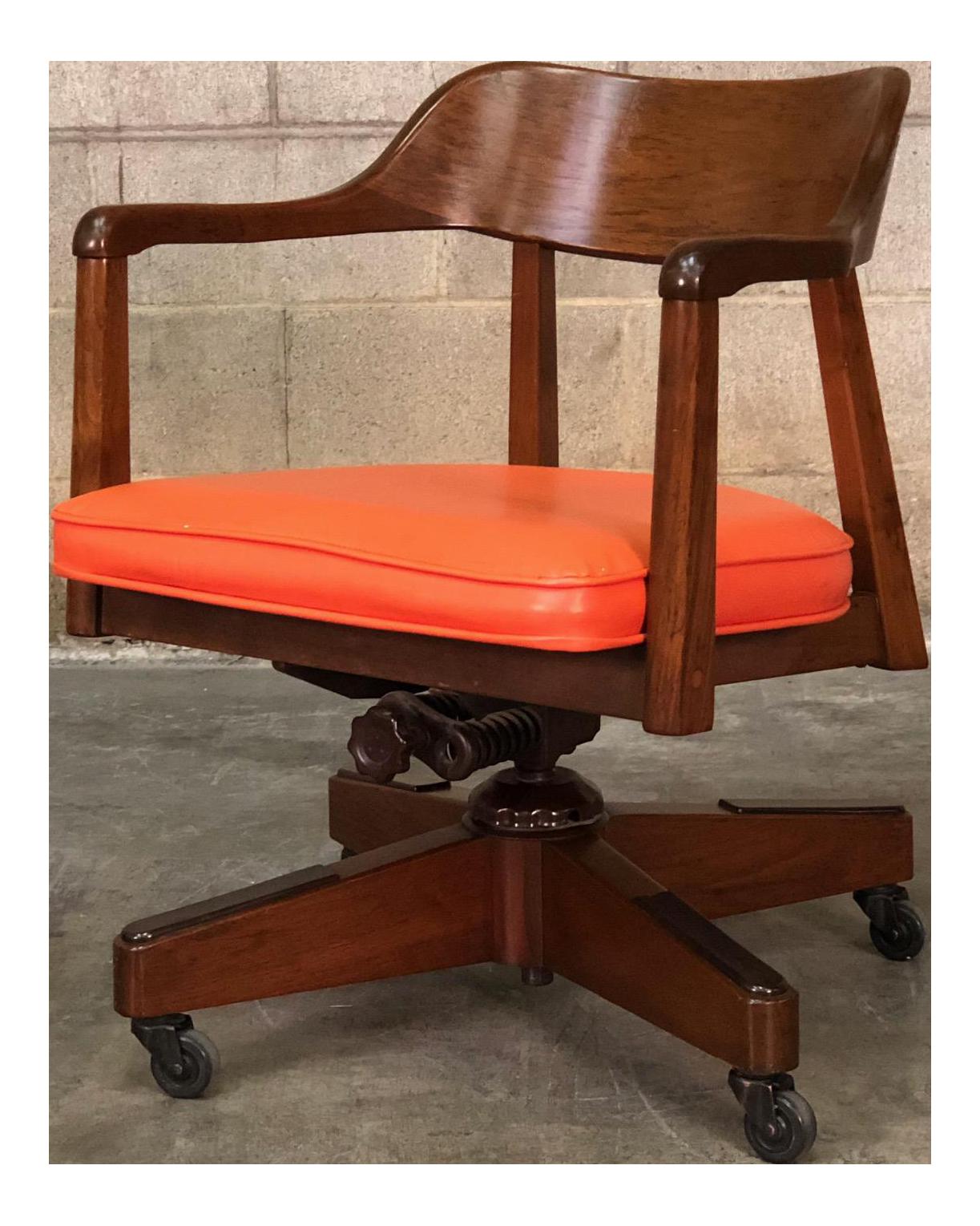 office chair vintage. Vintage Mid-Century Modern Swivel-Tilt Office / Desk Chair V