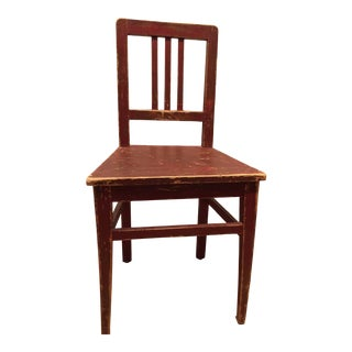 1900s Antique Rustic European Side Chair For Sale