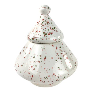 1980's Contemporary Christmas Tree Canister Cookie Jar For Sale
