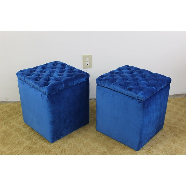 Pleasing Mid Century Modern Small Storage Stools A Pair Short Links Chair Design For Home Short Linksinfo
