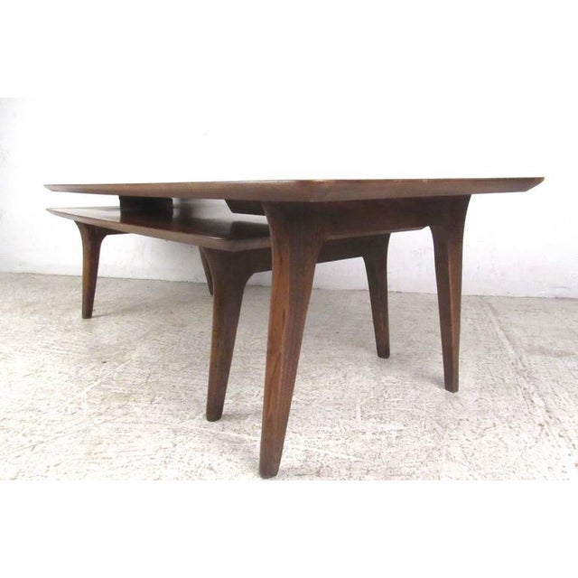 Mid-Century Modern Vintage Modern Two-Tier Pivot Coffee Table For Sale - Image 3 of 11