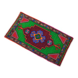 """Hand Knotted Oushak Rug. Colorful Rug, Bath Mat, Laundry Decor 1'6"""" X 2'9"""" For Sale"""
