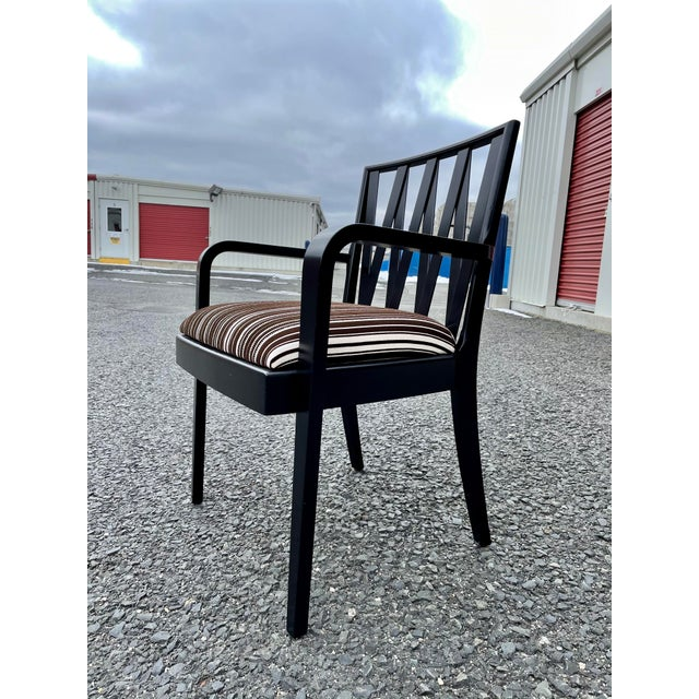 Mid-Century Modern Paul Frankl for Johnson Furniture Zig Zag Armchair 1950s For Sale - Image 3 of 13