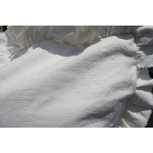 White Ruffled Pair of Europeon Pillows - Image 3 of 3