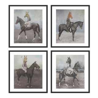 Autocracy 4 pc set by Anja Wuelfing in Black Frame, Medium Art Print For Sale