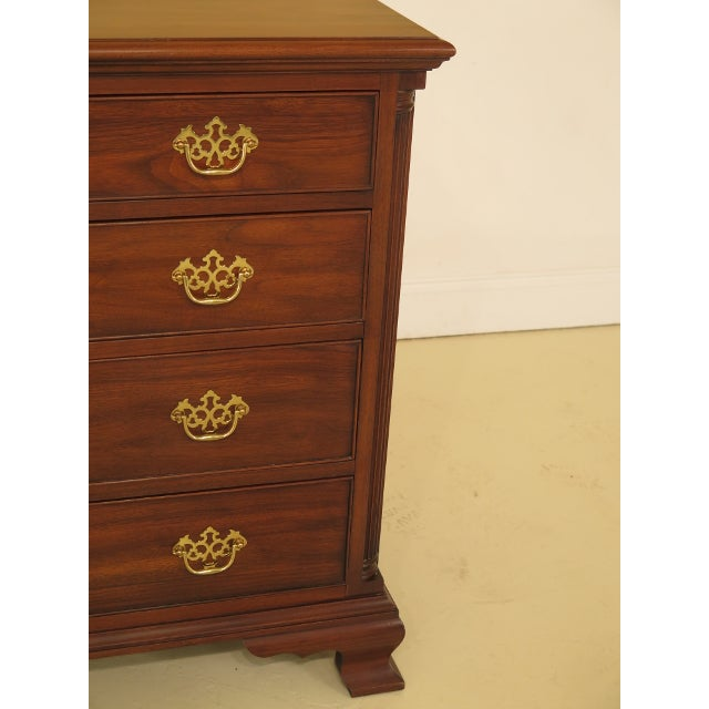Queen Anne 1980's Vintage Henkel Harris Chippendale Walnut Dresser For Sale - Image 3 of 12