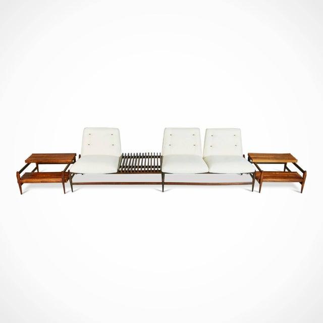 1950s Liceu De Artes E Oficios Jacaranda Sofa & Side Tables, Brazil - 3 Pc. Set For Sale In Los Angeles - Image 6 of 11