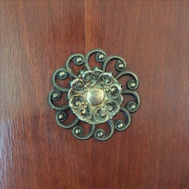 Mid-Century Deco Style Walnut Armoire - Image 5 of 11