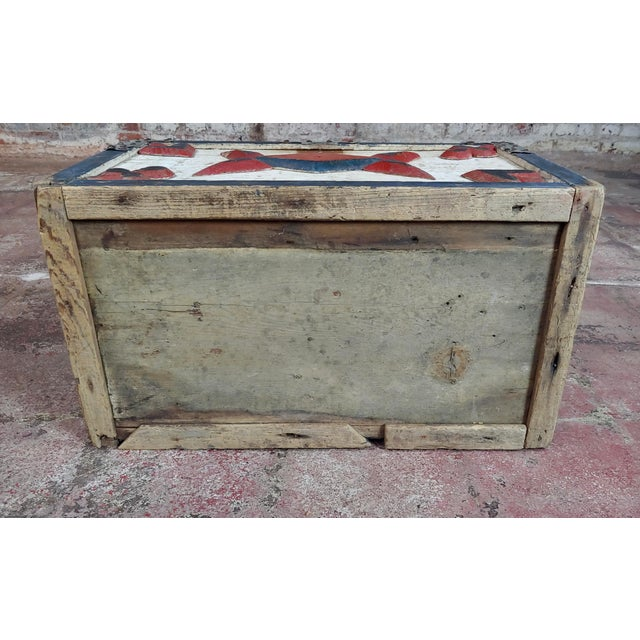 19th Century Americana Painted Trunk For Sale - Image 9 of 10