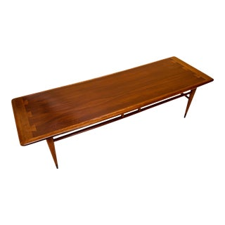 Mid-Century Modern Lane Acclaim Walnut and Oak Coffee Table For Sale