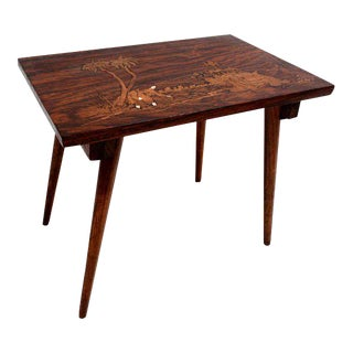 Antique Solid Rosewood Table For Sale