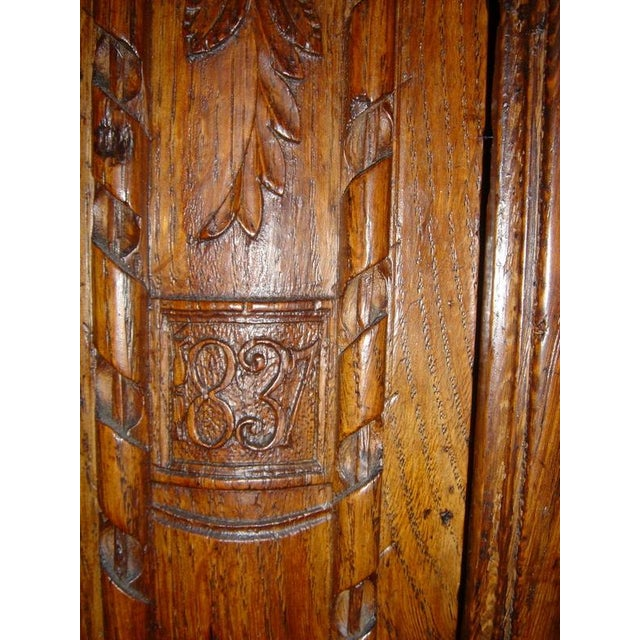 Brown One of a Kind Beautiful Normandie Armoire For Sale - Image 8 of 11
