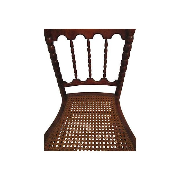 Traditional Early 1800s Hand Carved Child's Chair For Sale - Image 3 of 7