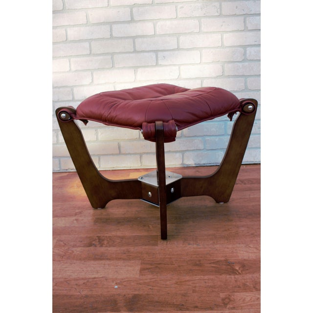Mid Century Modern Odd Knutsen Luna Lounge Chair and Ottoman For Sale - Image 10 of 13