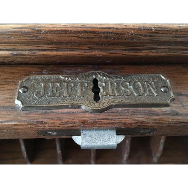 Vintage Jefferson Rolltop Desk For Sale - Image 5 of 10
