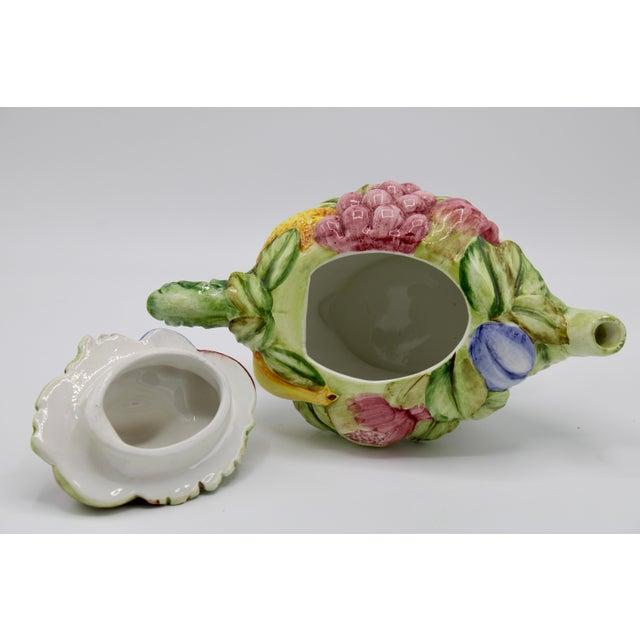Ceramic Vintage Italian Ceramic Fruit Teapot For Sale - Image 7 of 13