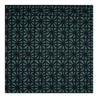 Justina Blakeney Monterey Printed Cotton and Linen Fabric, Indigo For Sale