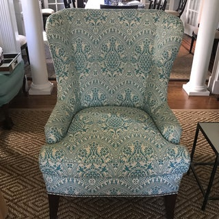 Modern Wingback Chair Quadrille China Seas Preview