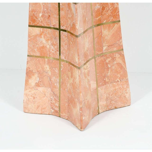 Pair of Bronze Inlay and Stone Obelisks by Casa Bique For Sale - Image 10 of 10