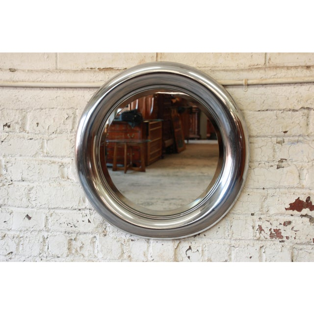 1970s Reggiani Italian Circular Chrome Mirror For Sale In South Bend - Image 6 of 6