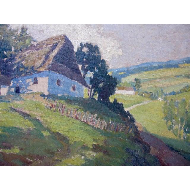 1910s Jan Honsa Vintage Early 20th Century Czech Republic Landscape Signed Original Oil For Sale - Image 5 of 7