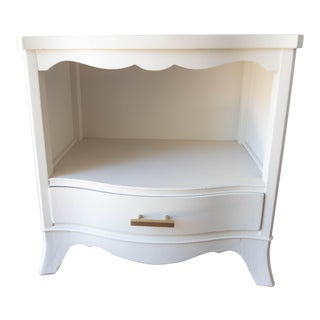 Jb Van Sciver Refinished Off White Side Table For Sale