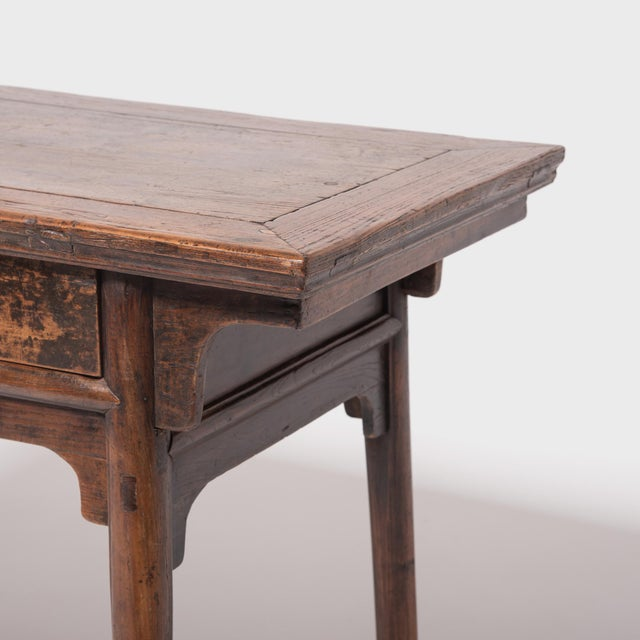 19th Century Chinese Two Drawer Provincial Table For Sale In Chicago - Image 6 of 8