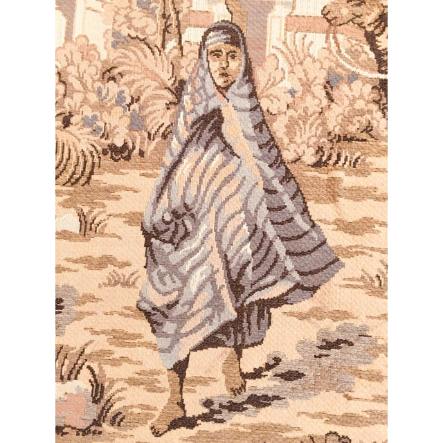 Textile Large 19th Century Orientalist Scene and Moorish Architecture Tapestry For Sale - Image 7 of 12