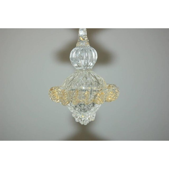 Gold Vintage Murano Glass Champagne Gold Chandelier For Sale - Image 8 of 11
