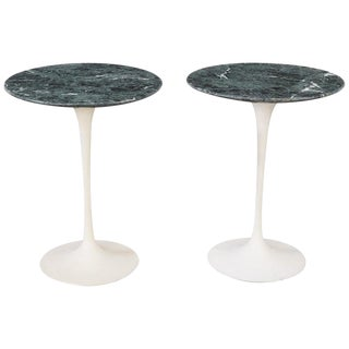 Pair of Marble Eero Saarinen Tulip Side Tables, Knoll, Usa, 1970s For Sale