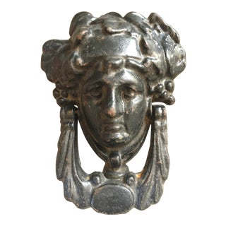 Victorian Cast Iron Door Knocker For Sale