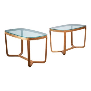 Bertil Fridhagen Pair of Coffee Tables for Smf, Sweden, 1940s For Sale