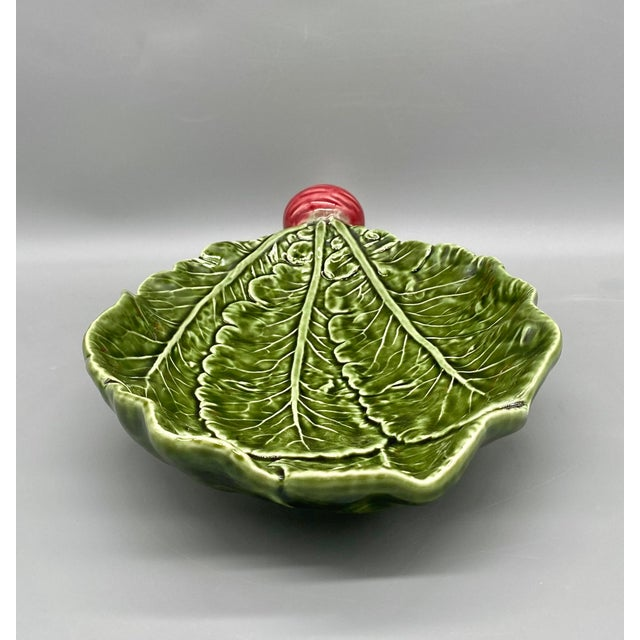 20th Century Majolica Radish Vegetable Platter/Dish For Sale - Image 9 of 10