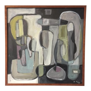 Original Modernist Abstract Stewart Ross Painting