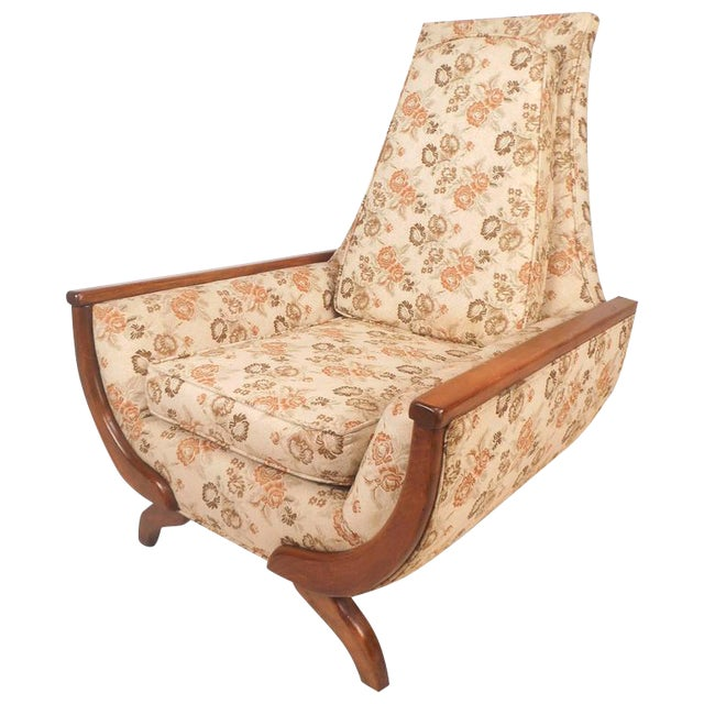 Adrian Pearsall Style Mid-Century Modern High Back Lounge Chair For Sale