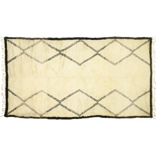 Contemporary Beni Ourain Moroccan Rug - 6′4″ × 11′1″ For Sale