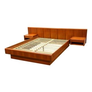 Queen Danish Teak Platform Bed For Sale