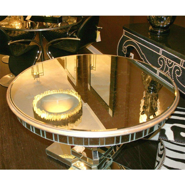 Custom Mirrored Center Hall Table For Sale In New York - Image 6 of 7
