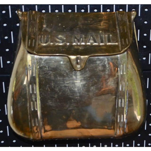 Antique Saddlebag Vintage Solid Brass Mail Box Mailbox For Sale - Image 5 of 10