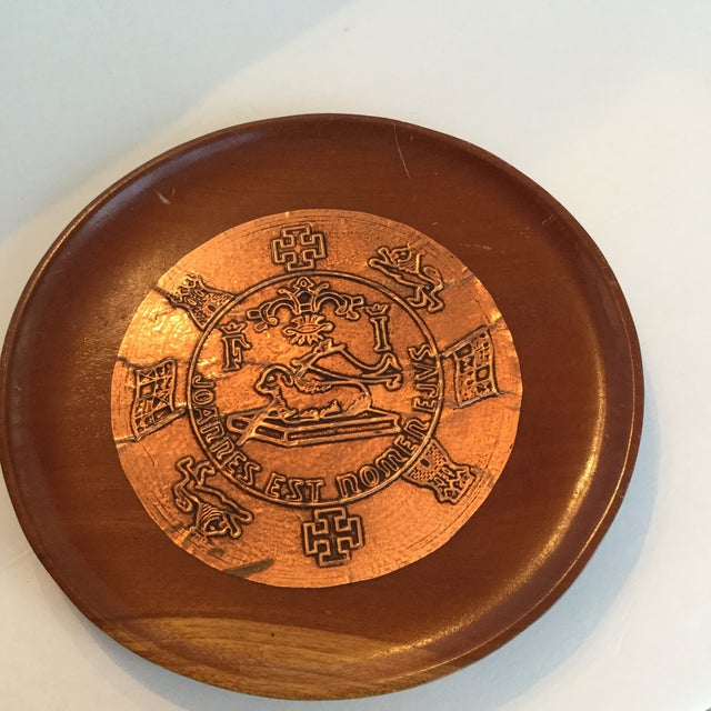 Gold Puerto Rico Plate For Sale - Image 8 of 10