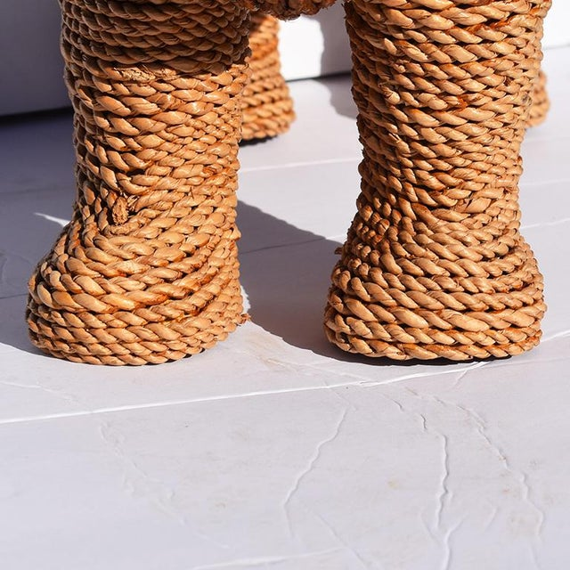 Wicker Mario Torres Lopez Style Wicker Raffia Lion Animal For Sale - Image 7 of 11