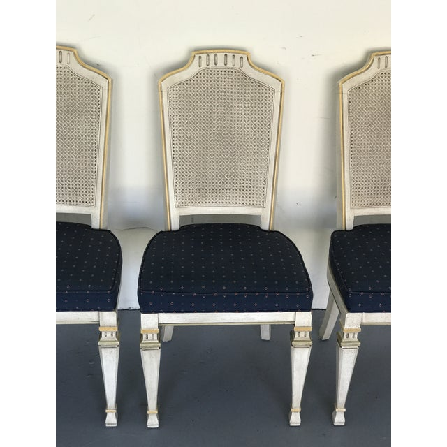 1970s Vintage Drexel Siena Furniture Italian Neoclassical Cane Back Dining Chairs- Set of 4 For Sale In Chicago - Image 6 of 13