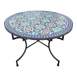 Moroccan Multicolor Beldia Tina Mosaic Table