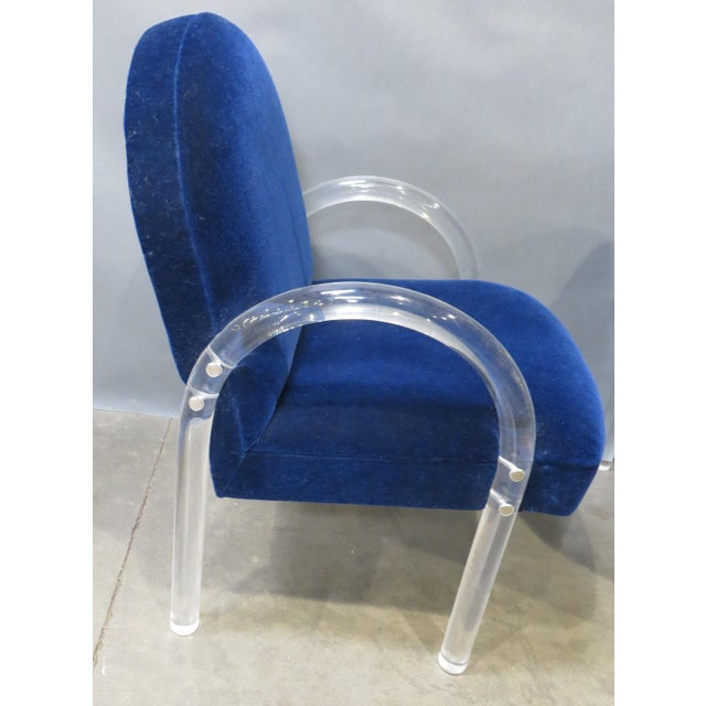 Pair of Pace Collection Lucite Waterfall Dining or Side Chairs Circa 1980 For Sale In San Francisco - Image 6 of 12