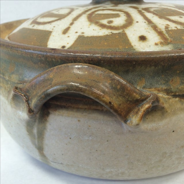 Mid-Century Studio Pottery Bowl and Lid - Image 11 of 11