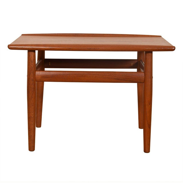 Wood Grete Jalk Teak End / Accent Table With Raised Lip Top For Sale - Image 7 of 7