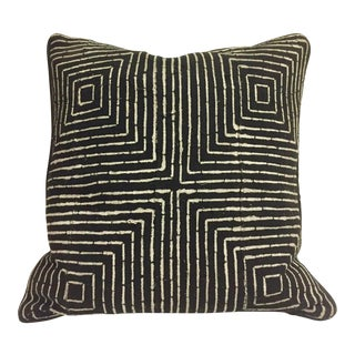 Graphic African Mud Cloth Pillow For Sale