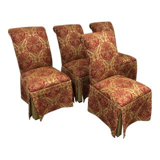 Ethan Allen Olivia Skirted Side Chairs - Set of 4 For Sale